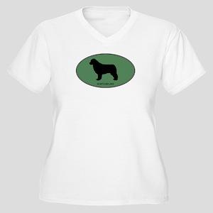 Newfoundland (green) Women's Plus Size V-Neck T-Sh