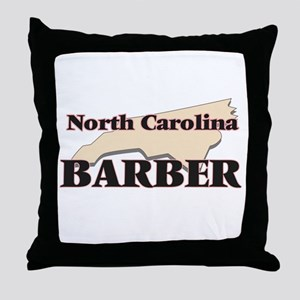 North Carolina Barber Throw Pillow