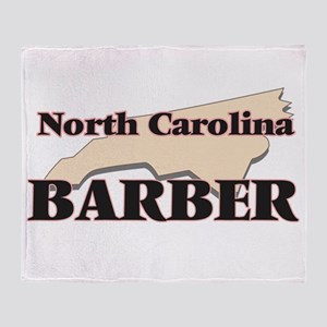 North Carolina Barber Throw Blanket