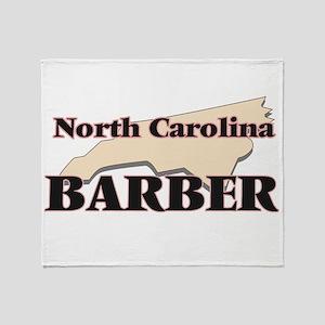 North Carolina Barber Throw Blanket