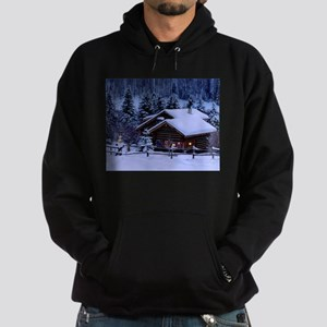 Log Cabin During Christmas Hoody