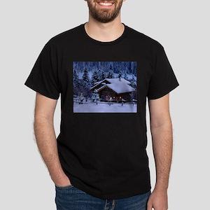 Log Cabin During Christmas T-Shirt