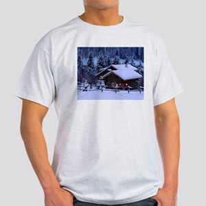 Log Cabin During Christmas T-Shirt