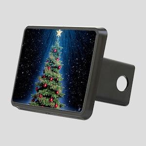 Beautiful Christmas Tree Rectangular Hitch Cover