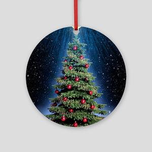 Beautiful Christmas Tree Round Ornament