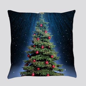 Beautiful Christmas Tree Everyday Pillow