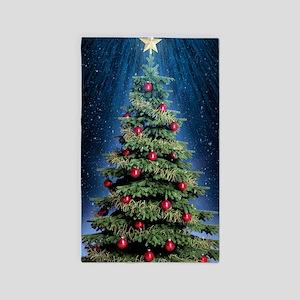 Beautiful Christmas Tree Area Rug