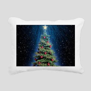 Beautiful Christmas Tree Rectangular Canvas Pillow