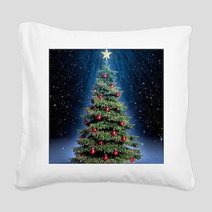Beautiful Christmas Tree Square Canvas Pillow