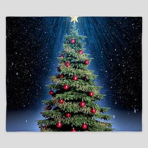 Beautiful Christmas Tree King Duvet