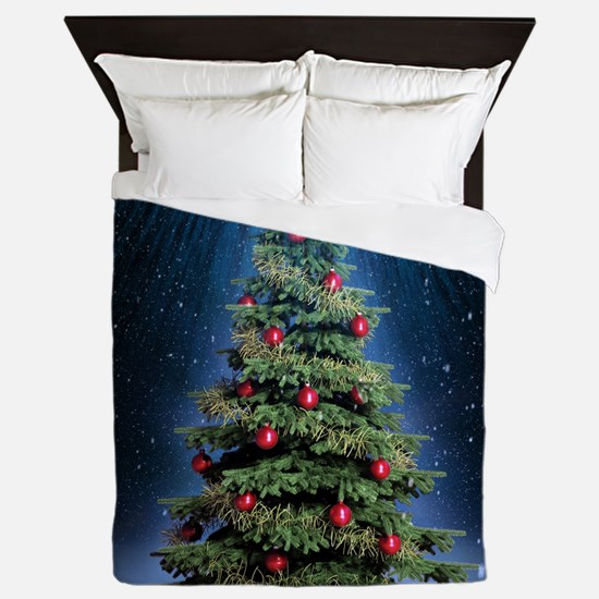 Beautiful Christmas Tree Queen Duvet