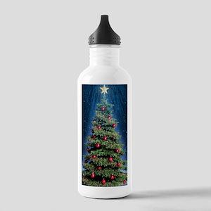 Beautiful Christmas Tree Sports Water Bottle