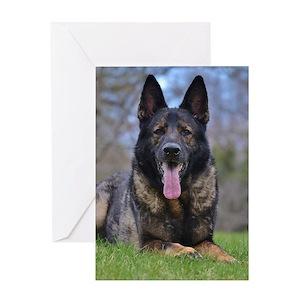 German shepherd dog greeting cards cafepress m4hsunfo