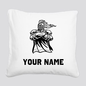 Medieval Knight Square Canvas Pillow