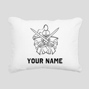 Medieval Knight Rectangular Canvas Pillow