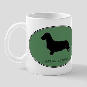 Wirehair Dachshund (green) Mug