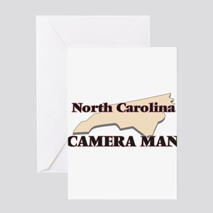 North Carolina Camera Man Greeting Cards