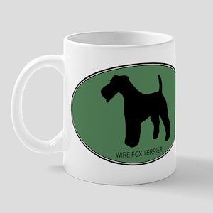 Wire Fox Terrier (green) Mug