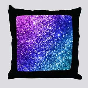 Glitter Ocean Bokeh Throw Pillow