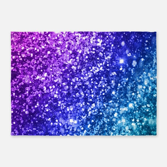 Glitter Ocean Bokeh 5'x7'Area Rug