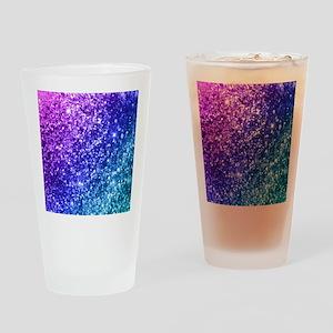 Glitter Ocean Bokeh Drinking Glass