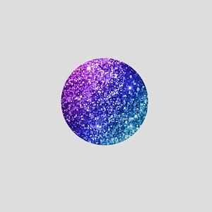 Glitter Ocean Bokeh Mini Button
