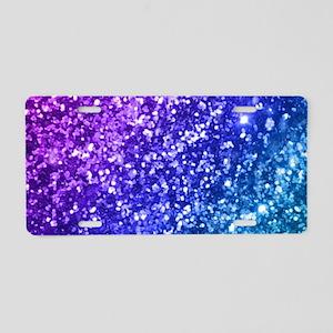 Glitter Ocean Bokeh Aluminum License Plate