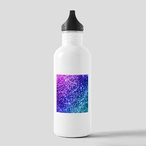 Glitter Ocean Bokeh Stainless Water Bottle 1.0L