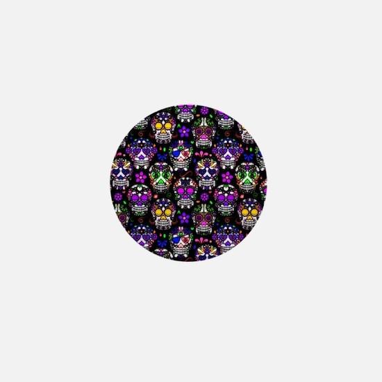 Candy Skulls Pattern Mini Button
