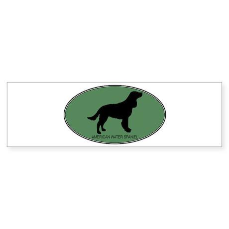 American Water Spaniel (green Bumper Sticker