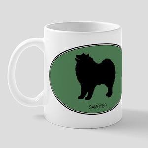 Samoyed (green) Mug