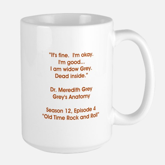 WIDOW GREY Large Mug