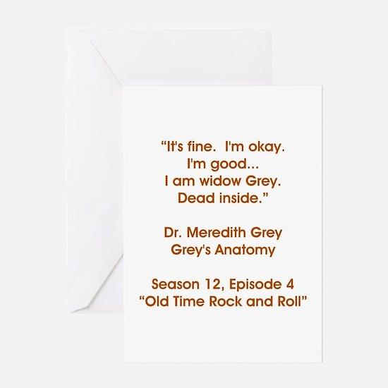 WIDOW GREY Greeting Card