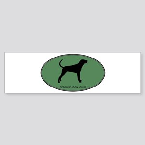 Redbone Coonhound (green) Bumper Sticker