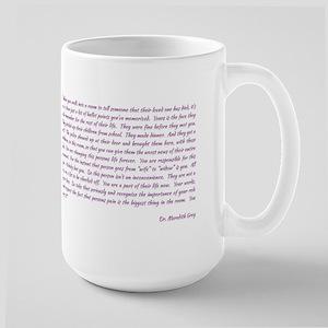 MEREDITH ADDRESSES THE INTERNS Large Mug