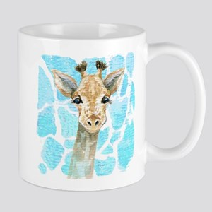 friendly baby giraffe Mugs