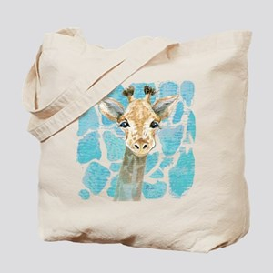 friendly baby giraffe Tote Bag