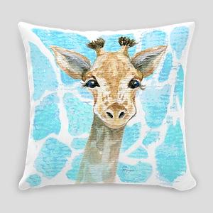 Friendly Baby Giraffe Everyday Pillow
