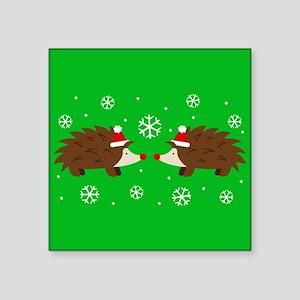 Christmas Hedgehogs Sticker