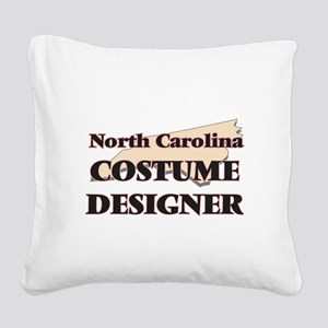 North Carolina Costume Design Square Canvas Pillow