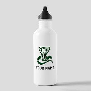 Green Cobra Snake Water Bottle