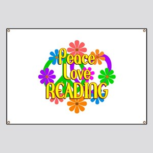 Peace Love Reading Banner