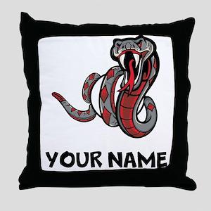 Diamondback Rattle Snake Throw Pillow