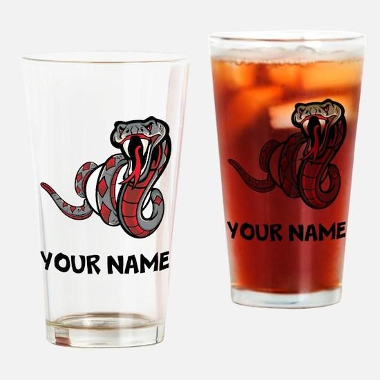 Diamondback Rattle Snake Drinking Glass