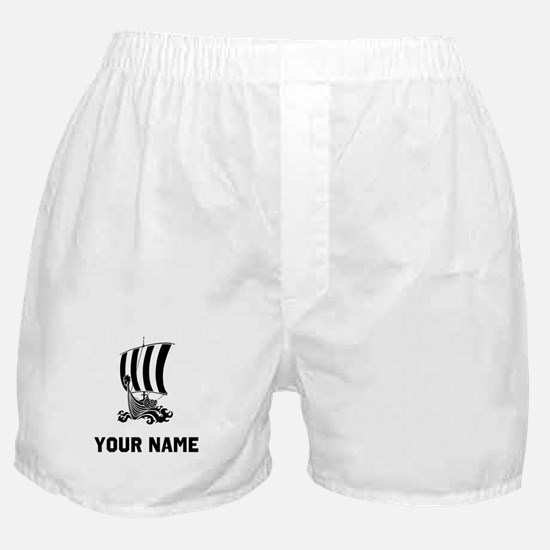 Viking Ship Boxer Shorts