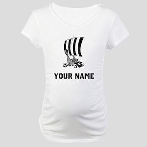 Viking Ship Maternity T-Shirt