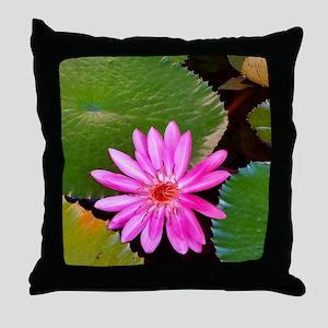 Pink Flower Photo 6 Throw Pillow