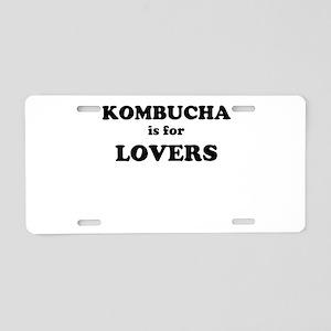 Kombucha is for Lovers Aluminum License Plate