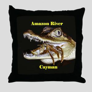 Amazon River Cayman- Throw Pillow