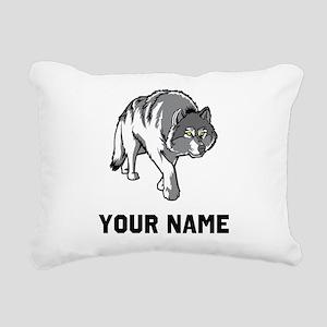 Arctic Wolf Rectangular Canvas Pillow